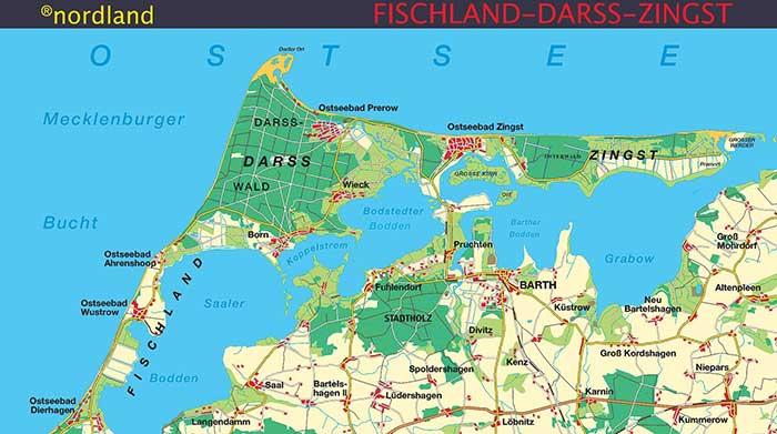 Fischland Darß Zingst Karte.Darss Prerow Karte Nordland Verlag