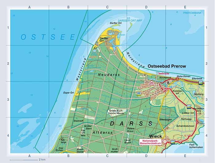 Darss Prerow Karte Nordland Verlag